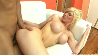 Busty babe loves riding a dick more than working out