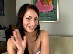 Grisha ferociously finger fucks her pussy