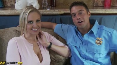 Julia Ann gets interviewed by Rocco Reed, then gets fucked by him