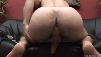 Hairy Stud Shows his Ass