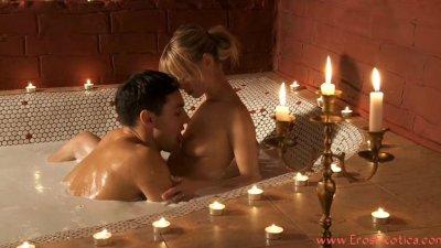 Erotic bath scene