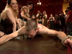 40 women gangbang slaveboy for Bobbi Starr s birthday