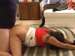 Cheating drunk wife gangbanged by friends while hubby s away