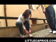 little caprice walking in the city
