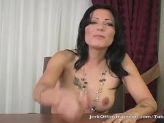 Zoey is your teacher and instructs you how to stroke your cock