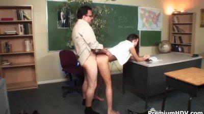 Schoolgirl hottie Nadia Aria loves sex