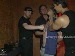 Sado maso gay sex slave abused in fetish rough gang bang sex vide