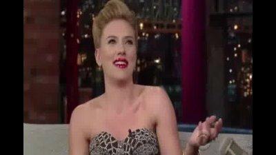 Scarlett Johansson Letterman