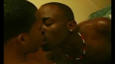 Anal fucking of sexy black gays