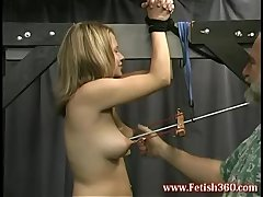 Ass spanking and nipple pulling