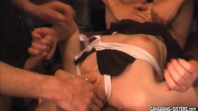 Blonde wife takes on 30 men