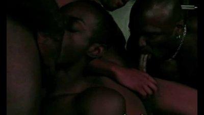 Foursome Ebony Gay Ass Fucking