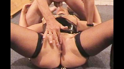 Homemade movie of amateur slut disciplined by 2 guys