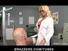 Bigtit Blonde slut MILF Doctor fucked hard by bigdick in clinic