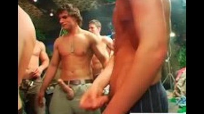 Group of aroused drunk men part5