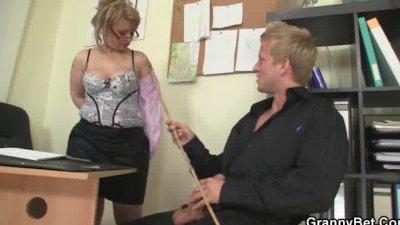 Mature office boss him fuck her hard