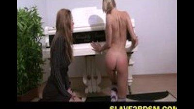 Piano student gets OTK spanking