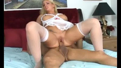 Nurse Heidi fucking in a teddy and white stockings