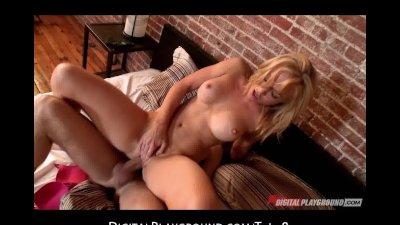Horny blond bad girl Kayden Kross fucks her boyfriend's roommate
