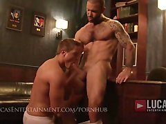Hungry jocks suck hung muscle tops  Multiple cumshots