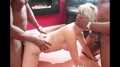 UK blonde milf Tracy Venus allblack gangbang