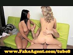 FakeAgent Two girls make me cum quick