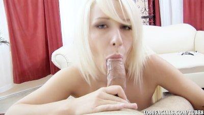Tattooed Blonde Babe Stevie Shae Taking Cum Facial