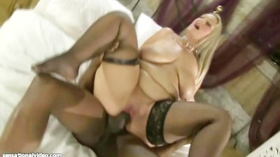 Busty British BBW MILF Dani Amour Fucks Omar's Huge Black Cock