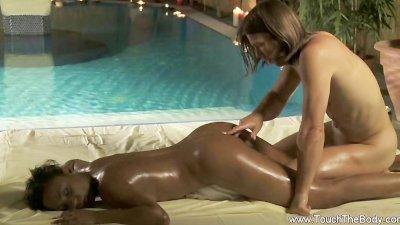 Intense Interracial Anal Massage