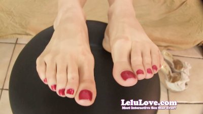 Lelu LoveBoss Secretary Foot Fetish Fuck