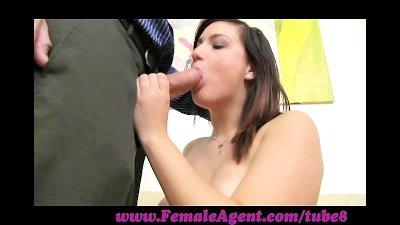 FemaleAgent. Ultimate casting orgasm for shy woman
