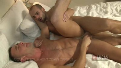 Bottom takes Johnny Venture's fat 9inch cock
