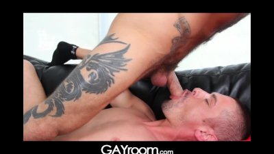 GayRoom Smooth ass sleeper awakens for a big ass pounding