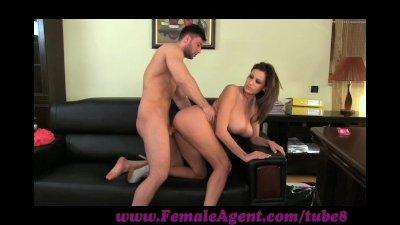 FemaleAgent Massive cumshot across marvelous tits