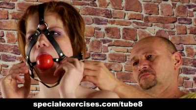 Special naked training for young lady