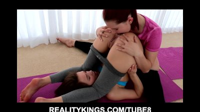 FIT and sexy yoga student is seduces by her instructor