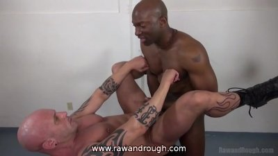 Taking Big Black Raw Cock