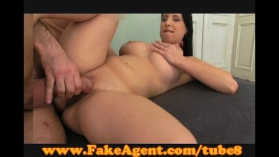 FakeAgent Massive natural breasts In casting