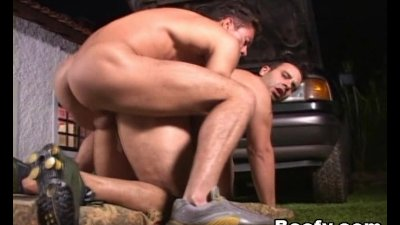 Big muscled mechanics yearn for dick to anal 2