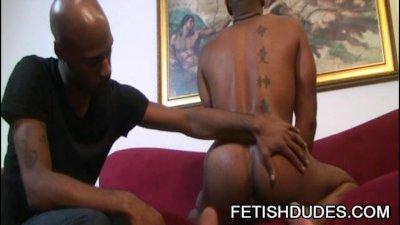 Kamrun And Cuba Santos - Black On Black Fetish Ass Play