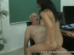Horny Old Teacher Fucks Young Student