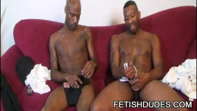 Kamrun and Cuba Santos - Kinky Black On Black Jockstrap Worship