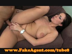 FakeAgent Saucy English amateur loves cock
