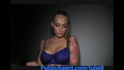 PublicAgent Tattooed blonde model take cash for sex