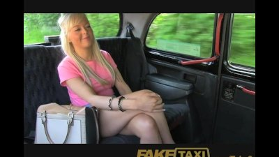 FakeTaxi Young blonde takes cash for backseat blowjob