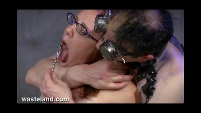 Tormenting Her Sex Slave Pussy With BDSM Macines, Electricity and Pain