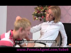 FemaleAgent  Unusupecting stud dominated into casting pegging session