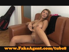 FakeAgent Juicy red head babe makes me cum hard