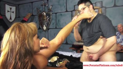 Ava Devine takes on two interacial cocks