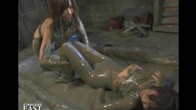 Japanese FemDom Mud Wrestling - Strange But True!